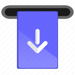 atm, card, insert, money, plastic icon
