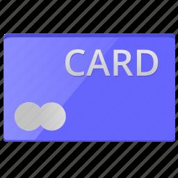 blue, card, credit, debet, money, plastic icon