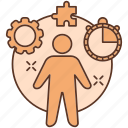advancement, business, career, leader, manager, project, puzzle icon