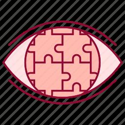 advancement, business, career, puzzle, strategic, vision icon