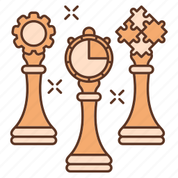 advancement, business, career, chess, puzzle, team, thinking icon