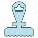 advancement, business, career, crown, priority, stamp, top