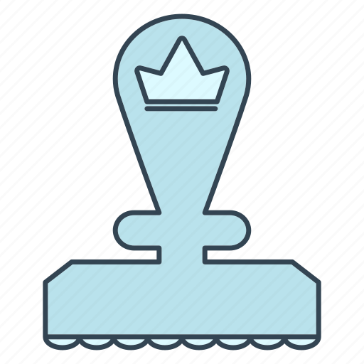 advancement, business, career, crown, priority, stamp, top icon
