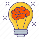 bulb, creative, idea, innovative, thinking icon