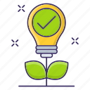 approved, business, growth, motivation icon