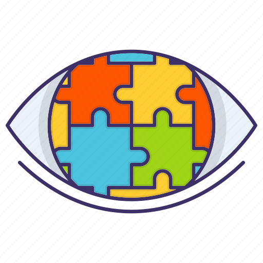 Eye, puzzle, strategic, vision icon - Download on Iconfinder