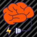 brain, energy, mind, power icon