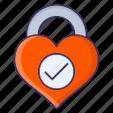 checkmark, esteem, heart, self icon