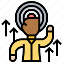 achievement, ambition, goal, setting, target icon