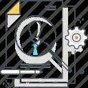 businessman, curriculum vitae, employee, head hunting, portfolio, resume, search icon