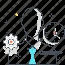 avatar, businessman, career, clock, employee, shirt, worker icon
