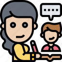 tutor, teacher, class, student, school