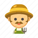 agriculture, countryside, crop, farmer, rancher, worker icon