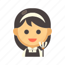 cleaner, housekeeper, housework, maid, occupation, service, uniform icon