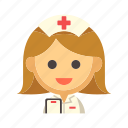 female, healthcare, hospital, medical, nurse, woman icon