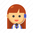 assistant, customer, headset, operator, phone call, service, support icon