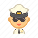 airplane, aviation, captain, crew, flight, pilot icon