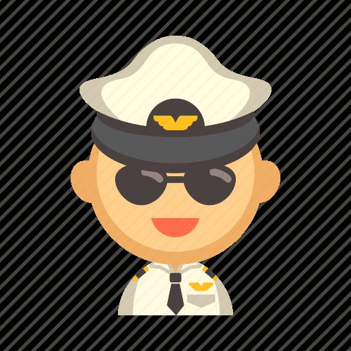 airplane, aviation, captain, crew, flight, pilot icon