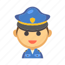 cop, job, law, officer, policeman, security, uniform icon