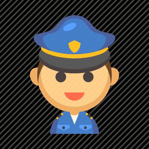 cop, job, law, officer, policeman, security, uniform icon