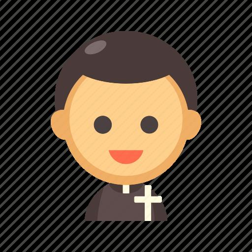 catholic, christian, church, holy, priest, religion icon