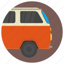 camper, campervan, caravanette, transport, vehicle icon