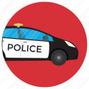 cop car, police car, police cruiser, police vehicle, squad car icon