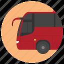 bus, electric bus, electric vehicle, tour bus, urban bus icon