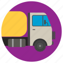 fuel truck, oil transport, petroleum transport, tanker, tanker truck icon