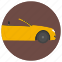 cabriolet car, car, convertible, convertible car, passenger car icon
