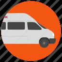 cargo van, delivery van, minivan, road vehicle, van icon