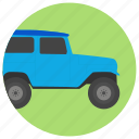 american automobile, jeep, jeep car, jeep vehicle, jeep wrangler icon
