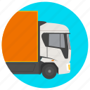 delivery truck, electric truck, urban automobile, urban vehicle icon
