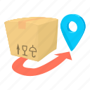 buy, cartoon, crate, decoration, delivery box, post, present icon