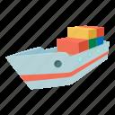 cartoon, industry, manual, sea, ship, shipping, steamship icon