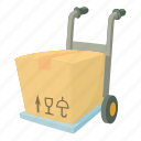 buy, carrying box, cartoon, crate, decoration, post, present icon
