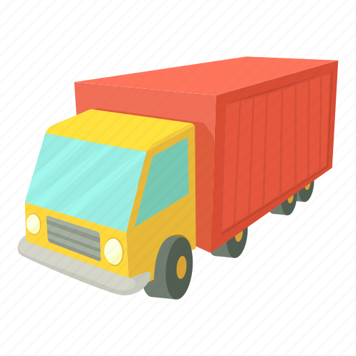 cargo, cartoon, delivery, freight, lorry, truck, van icon
