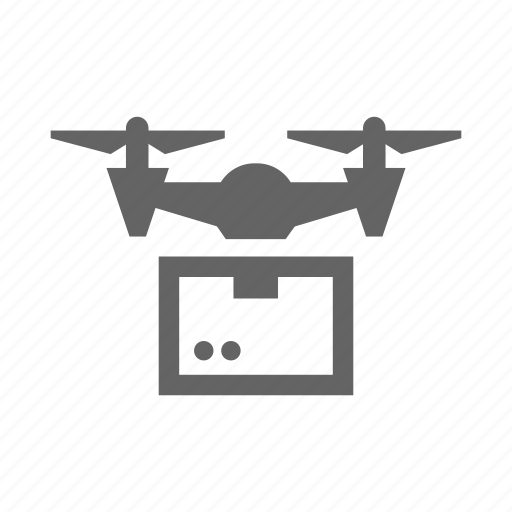 box, cargo, container, delivery, drone, package icon