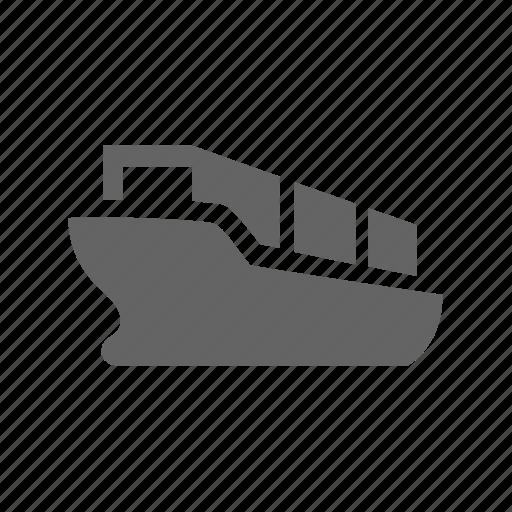 cargo, container, delivery, sea, ship, shipping icon