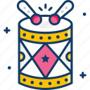 celebration, drums, music instrument, party icon