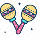 maracas, music, musical instrument, orchestra, shaker icon