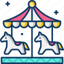 amusement park, carnival, carousel, fairground, kid and baby icon