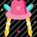 costume, hat, woman icon