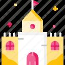 architecture, building, castle, medieval icon