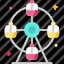 amusement park, fairground, ferris wheel, fun icon