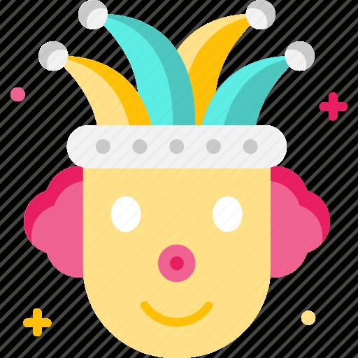 Carnival, circus, clown, fun, joker icon - Download on Iconfinder