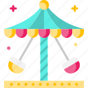 architecture and city, carnival, carousel, fairground, swings icon