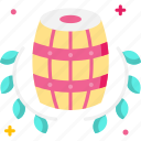 barrel, cask, wine barrel, wine cask, wine storage icon