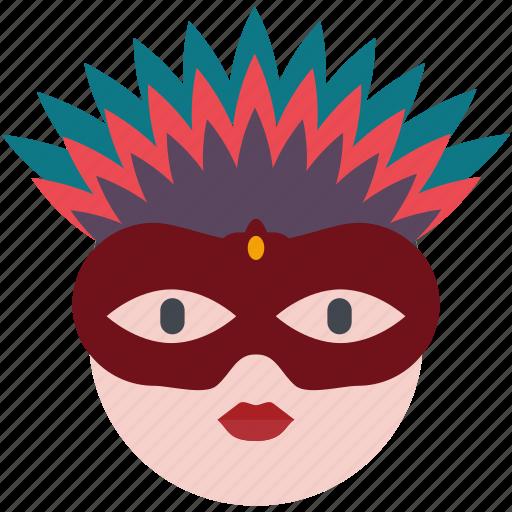 carnival, celebration, costume, event, festival, mask, party icon