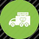circus, colorful, entertainment, fun, joy, street, van icon
